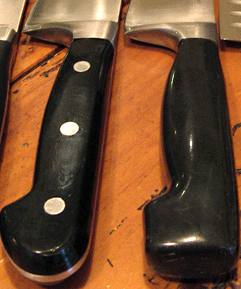 Two different Henckels knife handles