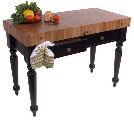 John Boos Le Rustica Table - Cherry - 48x24