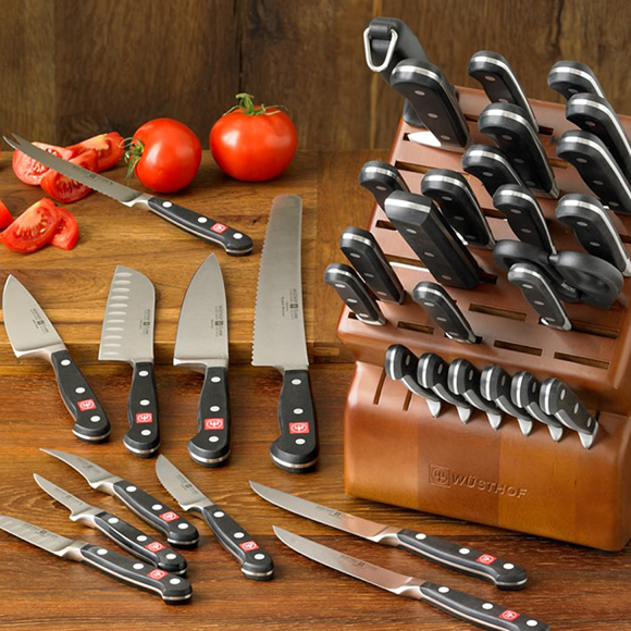 Wusthof Classic 36-piece knife block set