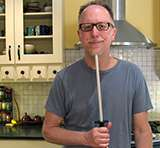 KitchenKnifeGuru with a honing steel
