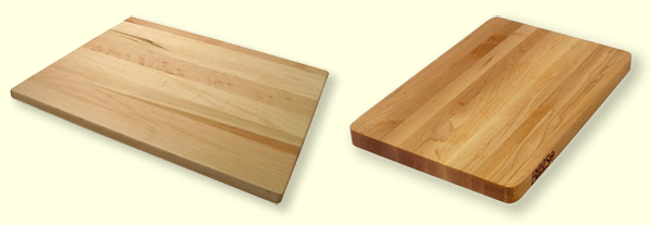 two edge-grain cutting boards