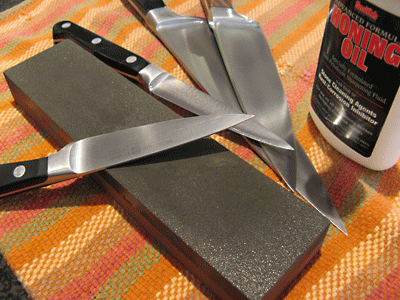 kitchen knife sharpening