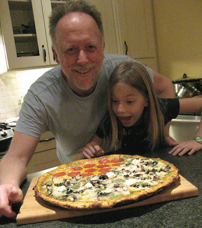homemade pizza eaters