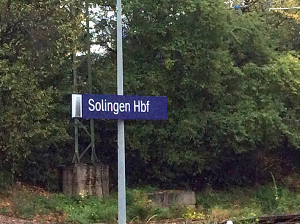 Solingen train station sign