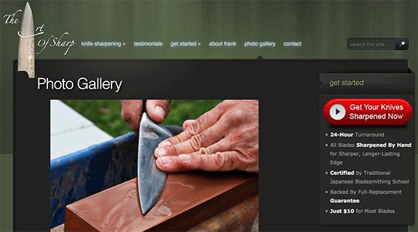 Art of Sharp knife sharpening