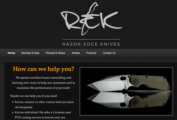 Razor Edge Knives knife sharpening