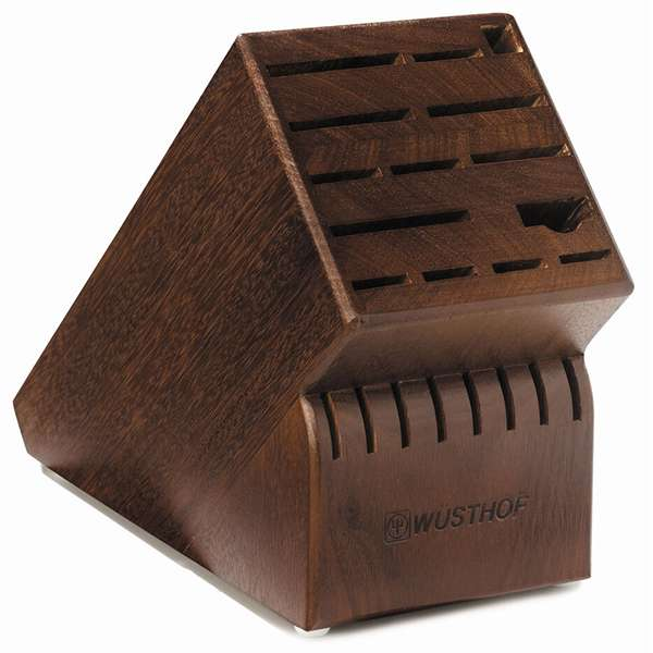 Wusthof 22-Slot Knife Block_walnut